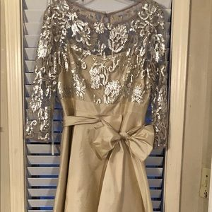 Champagne high low gown